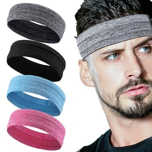 Outdoor Sports Headband Portable Fitness Hair Bands Man Woman  Wrap Brace Elastic Cycling Yoga Running Exercising Sweatband