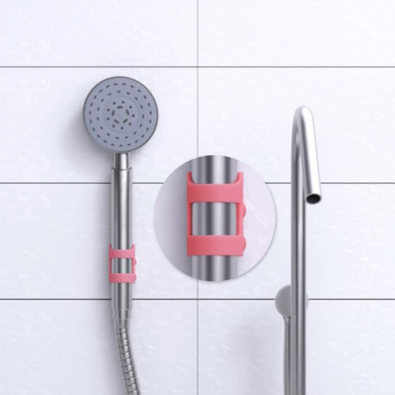 Bathroom Non-perforated Silicone Shower Head Suction Cup Fixed Base Frame Without Trace Free Applique Shower Head Holder shower support shower accessories water nozzle bathroom free punched silica gel shower sucker fixed base frame