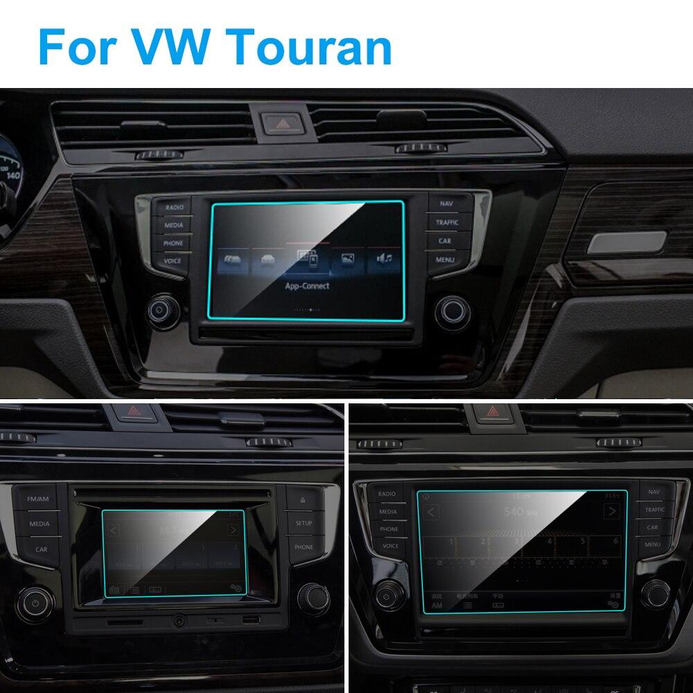 Protector de pantalla de navegación para GPS de coche para Volkswagen VW Touran 2016-2018, accesorios de película protectora de vidrio templado Interior de coche