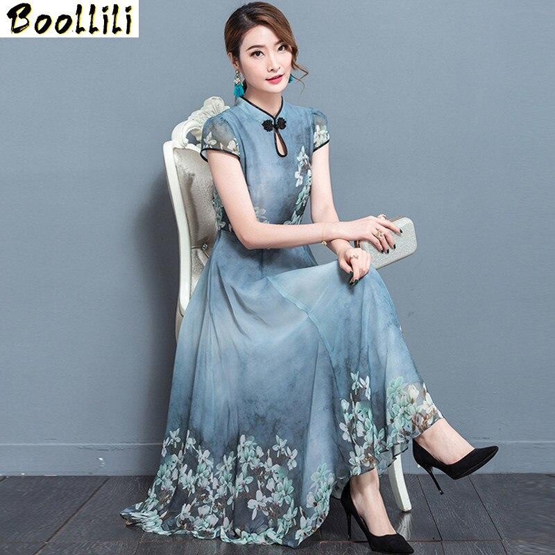 Женское платье с цветочным принтом Boollili, винтажное облегающее платье с синими цветами, большие размеры