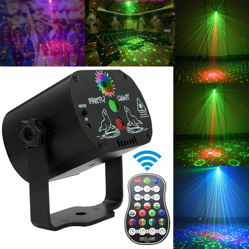 3w usb 5v mini disco ball lamp dj ktv stage light wireless ir remote voice activated lamp home party dance floor rgb light show 5V USB Recharge RGB Laser Projection Lamp  60 Patterns RGB LED Disco Light Stage Lighting Show for Home Party KTV DJ Dance Floor