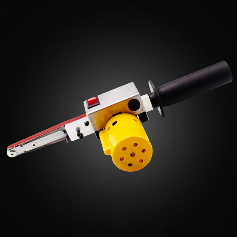 Mini Sanding Machine Handheld Electric Belt Sander Angle Grinder with Sanding Belt for Sanding Polishing Micro Polishing Machine enlarge