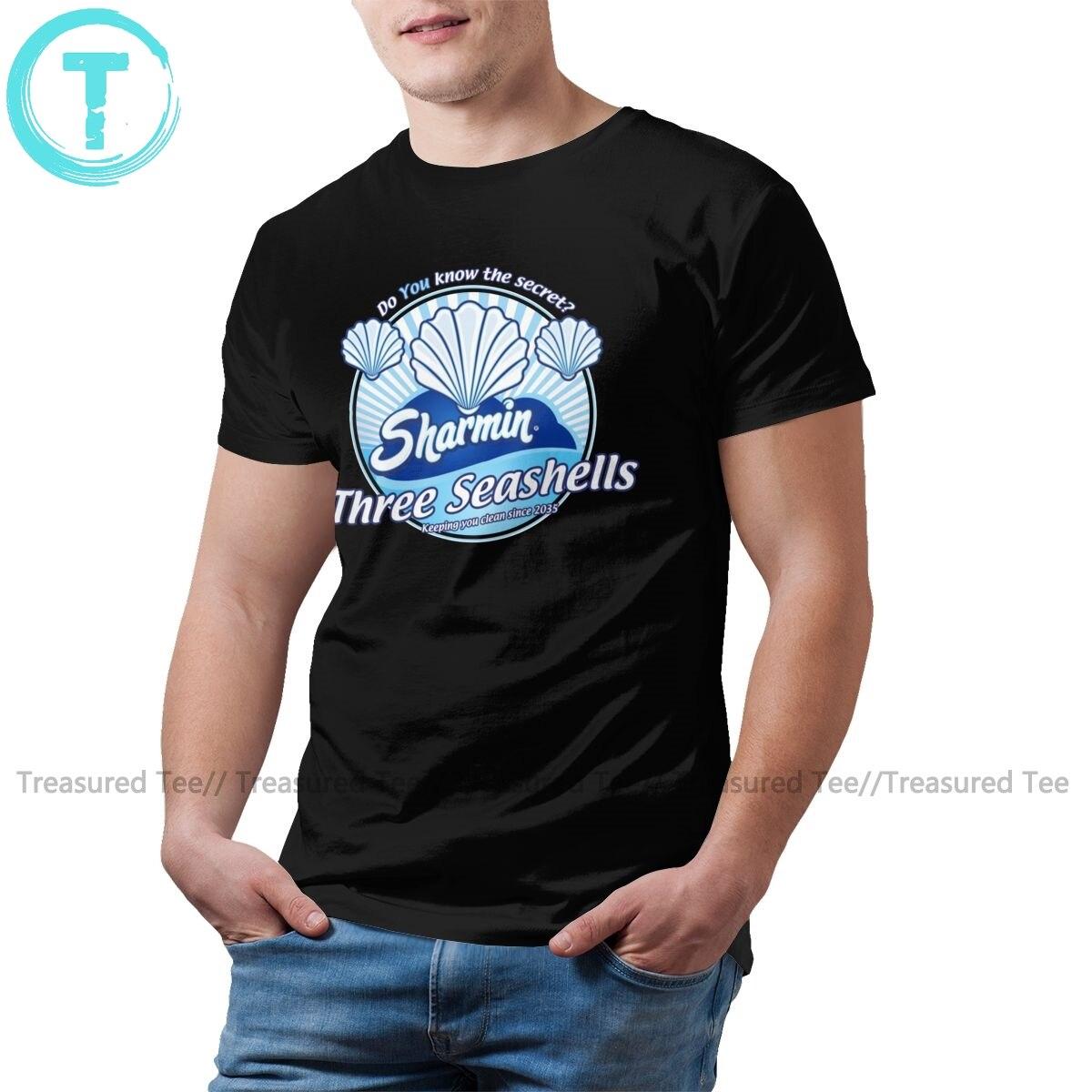 Seashells T Shirt Three Seashells Inspired By Demolition Man T-Shirt Plus Size Streetwear Tee Shirt Funny Tshirt
