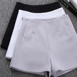 2021 New Women Summer High Waist A-Line Shorts Casual Suit Shorts Women Solid Color Short Pants Ladies Shorts