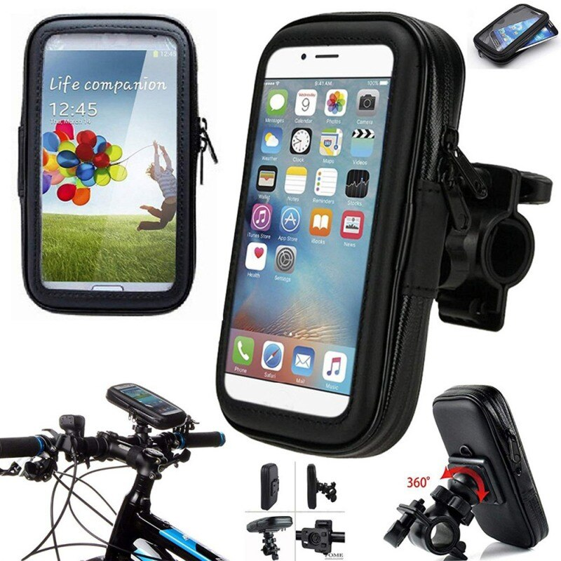 Estuche impermeable para teléfono móvil, soporte para bicicleta, bolsa para teléfono móvil, soporte transparente para motocicleta para iPhone XR X 11
