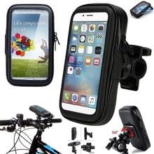 Wasserdichte Zelle Fall Reiten Telefon Stehen Fahrrad Handy Tasche Motorrad Telefon Montieren Transparent Touchable für iPhone XR X 11