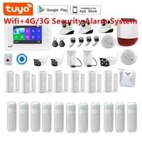 SmartYIBA     Kit de systeme dalarme de securite domestique  wi-fi 3G  ecran tactile TFT 4 3    SMS  notification vocale  RFID