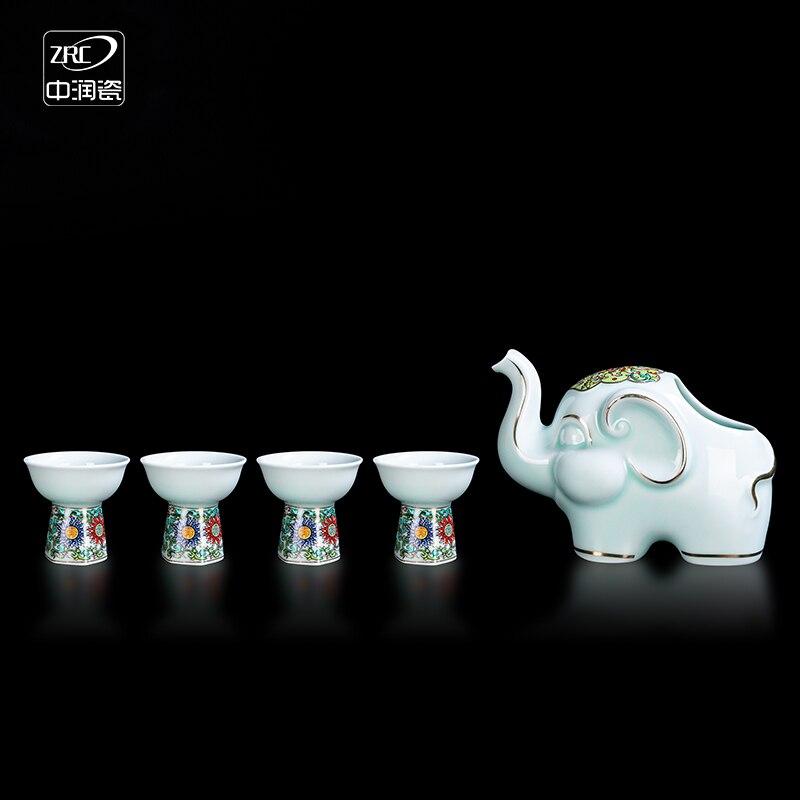 Japanese Wine Set Ceramics Classic Home Wine Set Creative 1 Pot 4 Cups Whiskey Glass Dispensador De Cerveza Wine Set BK50JJ