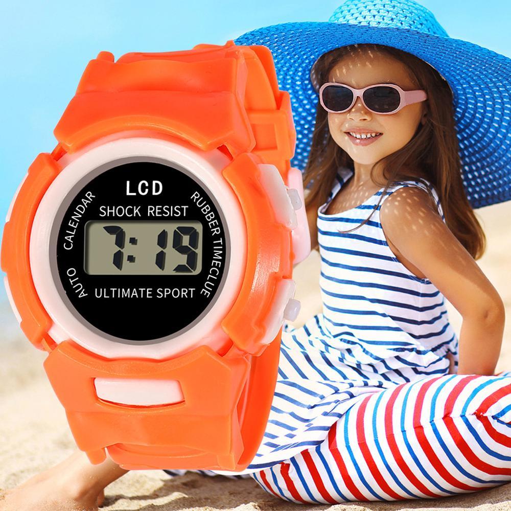 2020 saludable moda niños niñas y niños analógico Digital Smart Sport LED electrónico impermeable reloj de pulsera montre enfant # D
