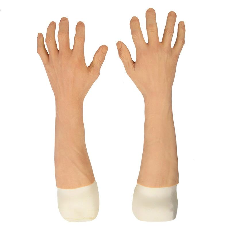 الرجال محاكاة خطوط اليد واضحة وواقعية سيليكون الجلد قفازات الاصطناعية الاصطناعية دروبشيبينغ أفضل المنتجات مبيعا