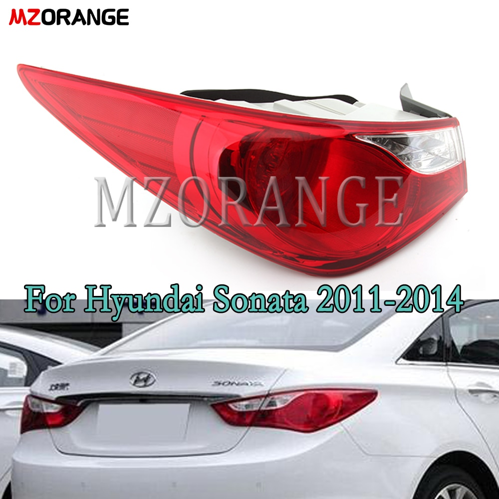MZORANGE Car Styling Tail Light For Hyundai Sonata 2011-2014 Tail Lights outer/inner side LED Tail Lamp Brake Auto Accessories