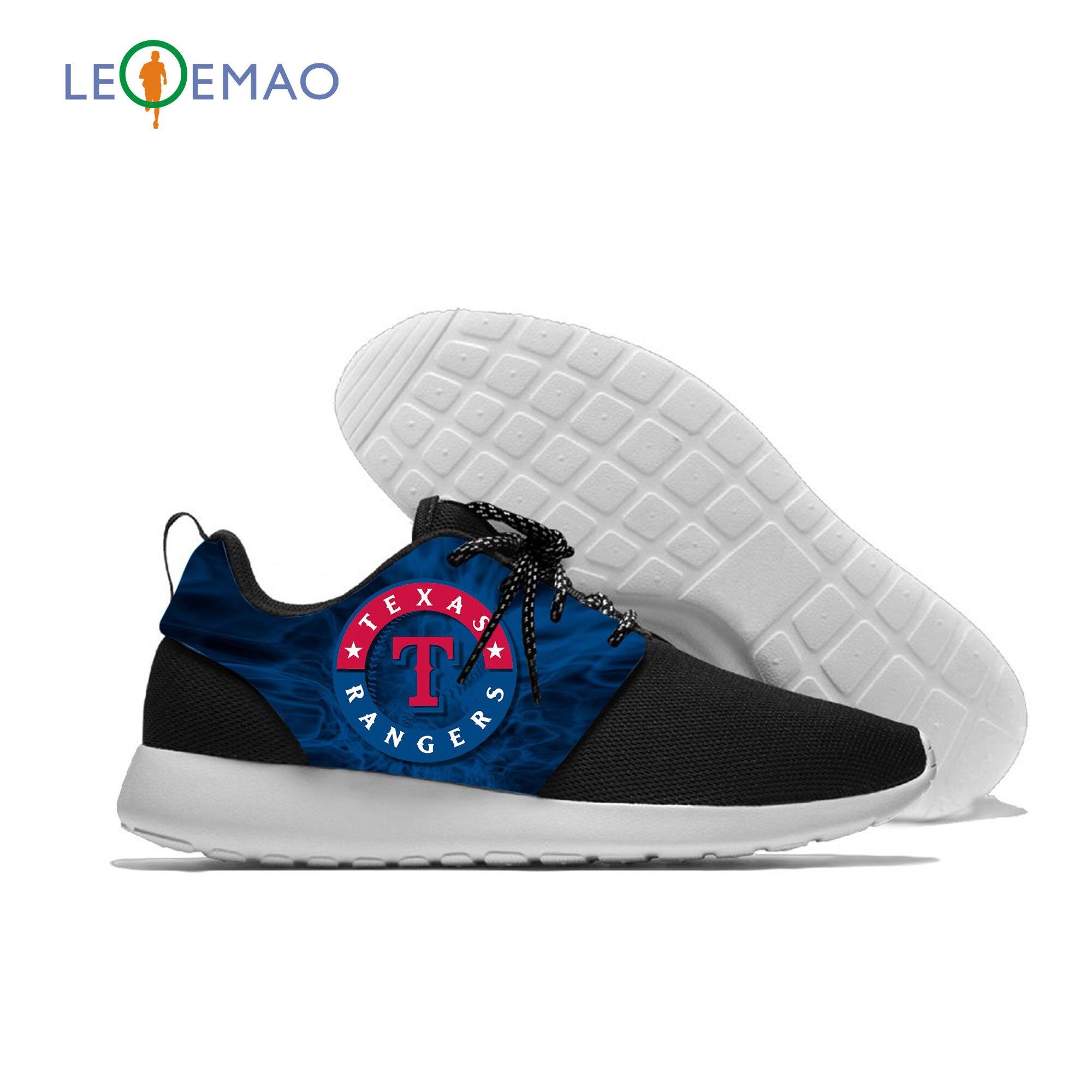 Hombres Mujeres zapatos deportivos para personalizado Logo de los Rangers césped al aire libre calzado deportivo EVA a Texas a los fanáticos del béisbol Deporte Zapatos
