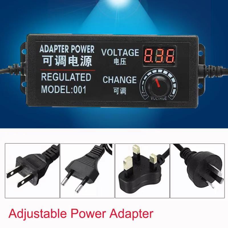 AC/DC 3 V-12 V 3 V-24 V 9 V-24 V 4V -24V Verstelbare Universele Power Adapter US/EU/UK/AU PIN Gestabiliseerde Voeding met Display screen