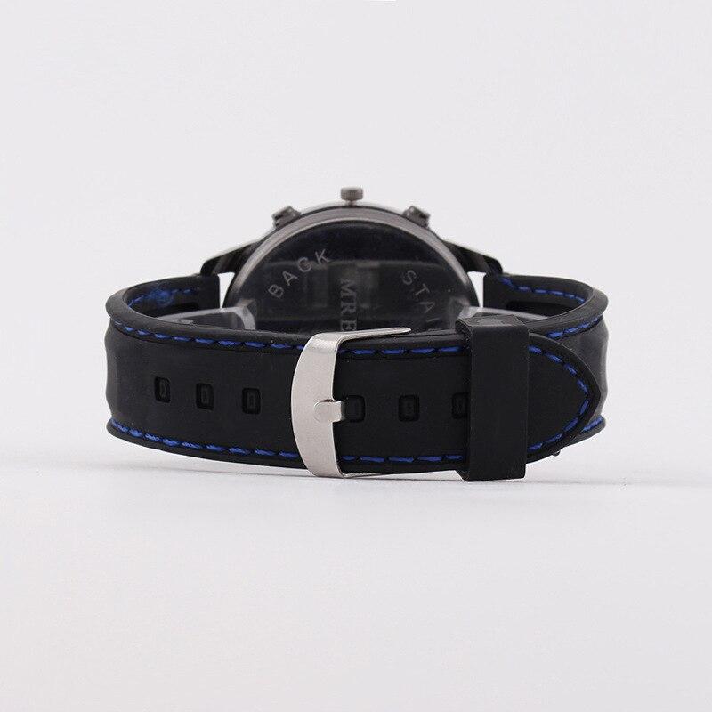 MREURIO Men's Watch Luxury Mechanical Sport Watch Large Three Plates Blue Dial Window Watch for Men Masculine Quartz Watch enlarge