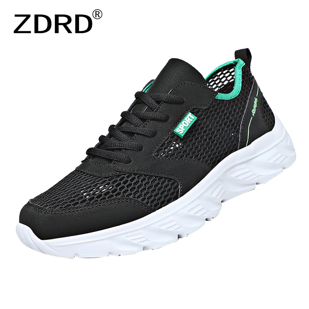 Summer Mesh Breathable Shoes Men Sneakers Barefoot Lightweight Fashion Non-Slip Casual Sports Runnin