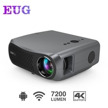 Video Projector Beamer Led 7200 Lumens Wireless Airplay 10000:1 Contrast Ratio Freeshipping Home The