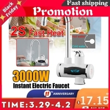 220V LED Digital Display Instant Electric Hot Water Heater Faucet Kitchen Instant Heating Tap Water