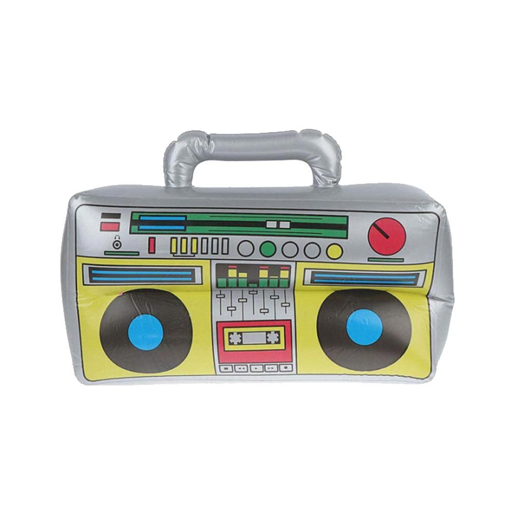 Надувная магнитола Boombox, надувная фотовспышка, реквизит для вечеривечерние 80-х 90-вечерние ничный декор, лучший подарок для детей
