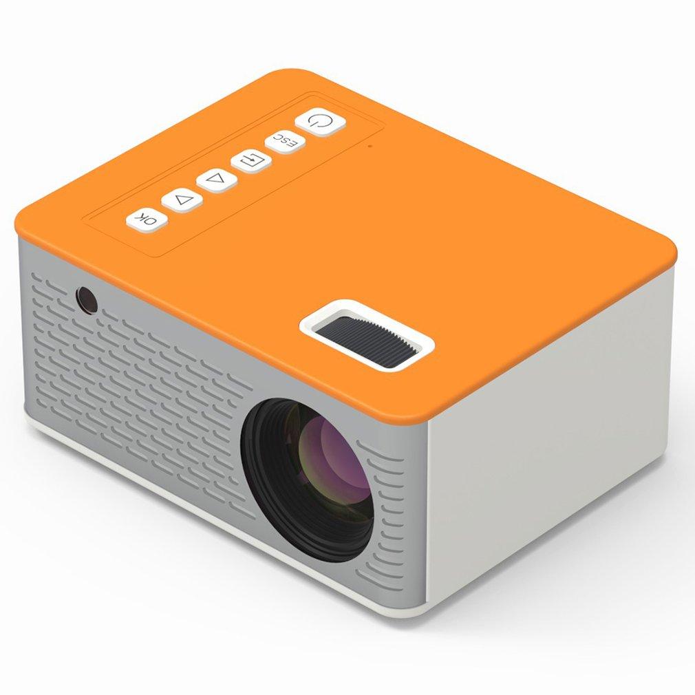 UC28D جهاز عرض صغير LED المحمولة USB للهاتف المحمول المنزل 10 ANSI 480*272 TF بطاقة AV IR 5 فولت 2A U القرص DVD صندوق التلفزيون 3.5 مللي متر AV