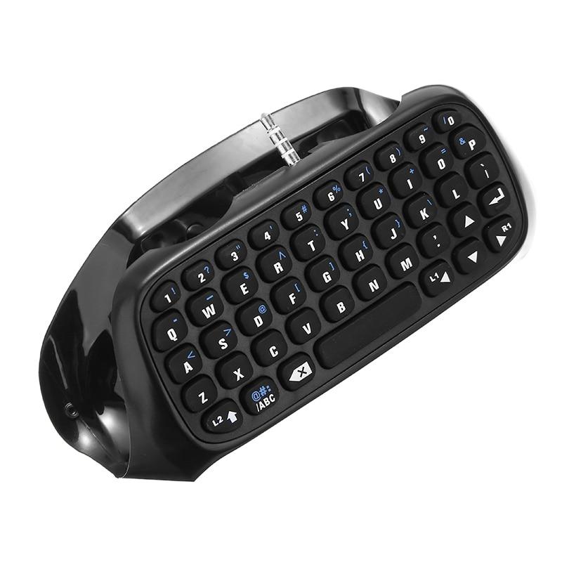 1 controlador SERT Mini teclado inalámbrico bluetooth 10m para s-ony p-laystation 4 PS4 para juego de Chat de Internet de tipo de texto