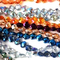 68mm faceted cross glass beads for jewelry making flat clover crystal beads for bracelets charms needlework diy accessories
