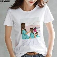 Nouveau été mode maman fille peigne femmes t-shirt ulzzang décontracté t-shirt harajuku kawaii t-shirt femme haut vêtements de rue