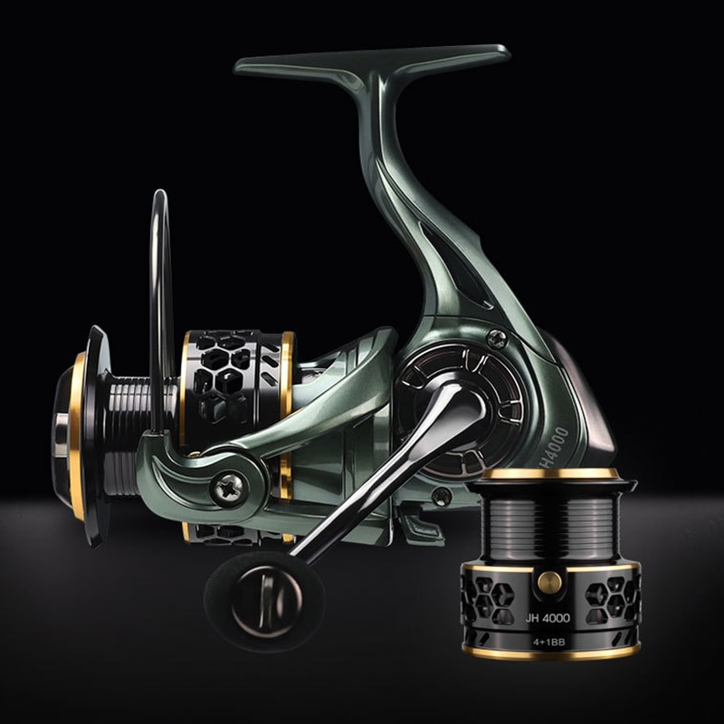 LINNHUE 2020 NEW Fishing Reel JH3000-4000 Spinning Reel 8kg Max Drag Reel 5.2:1High Speed Double Metal Spool Coil Fishing Tackle tsurinoya flying shark 6 2 1 high speed fishing reel 4000 5000 spinning reel 11 1bb 12kg drag aluminum spool carp fishing tackle