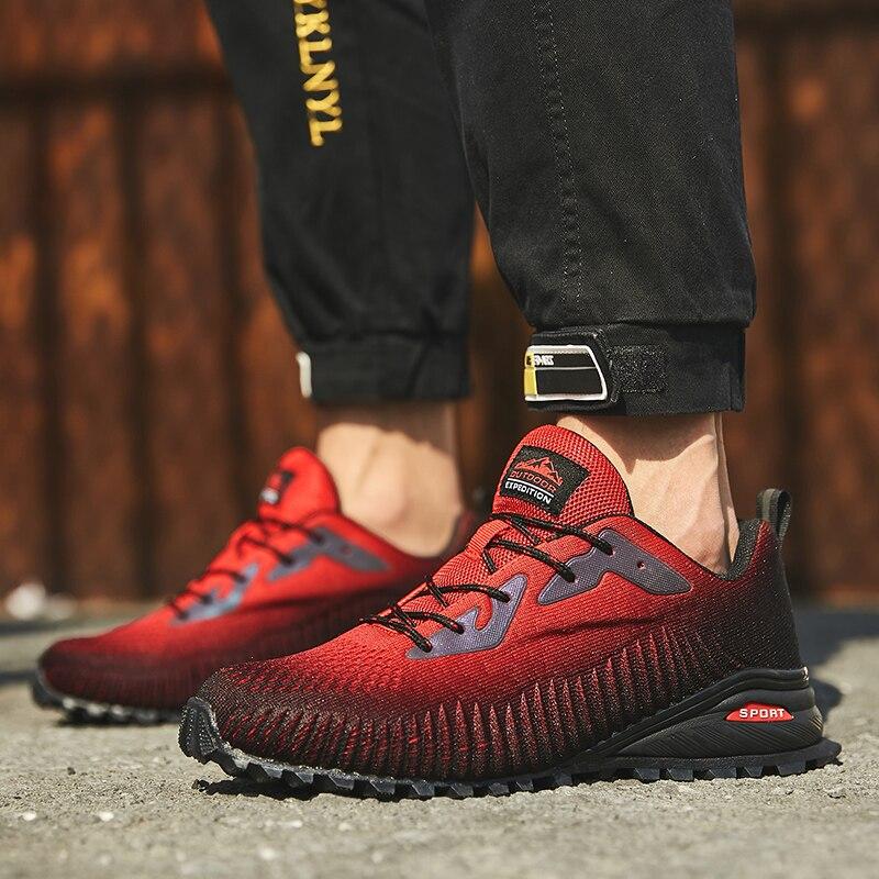 Trail البيع درب الرجال عادية الرياضة سرعة الحرة تشغيل خفيفة الوزن الرياضة حذاء تنفس في الهواء الطلق وسادة هوائية Hombre أحذية رياضية كبيرة الحجم
