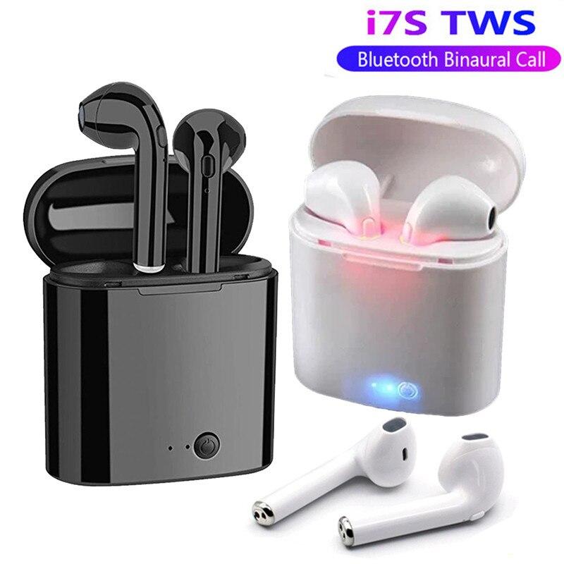 Auricular Bluetooth i7s Tws inalámbrica auriculares deportes auriculares para actividad física con la caja de carga micrófono manos libres auriculares para todos los teléfonos inteligentes