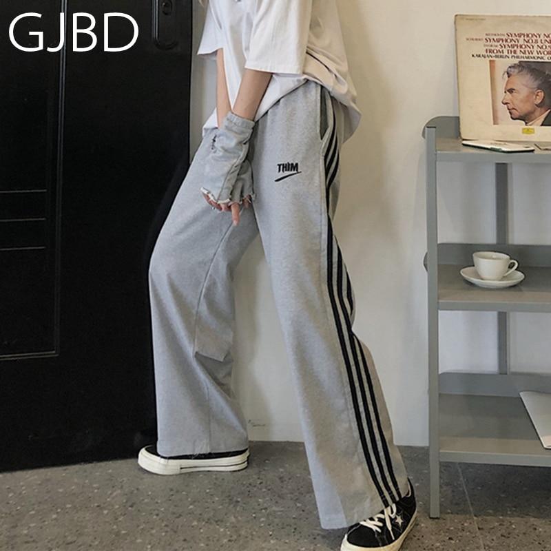 Women's Sports Pants 2021 New Y2K Streetwear Versatile Fashion High Waist Straight Pants Casual Boyf