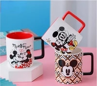 disney mickey minnie cartoon ceramic water cup coffee milk mug home office collection cups women girl gifts