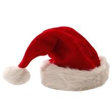 Sombrero de Navidad para hombre mujer niños en sombreros de Papá Noel 2019 caliente grueso Ultra suave de felpa lindo Claus Bonnet vacaciones vestido de lujo gorra de fiesta