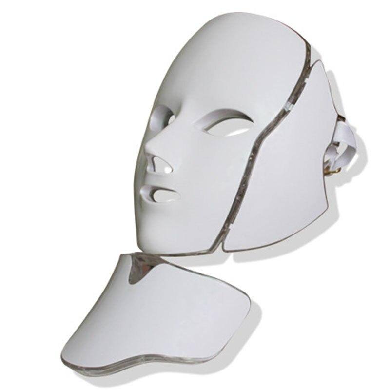 الفوتون الكهربائية LED قناع الوجه LED قناع العلاج بالضوء الجمال العناية بالبشرة 7 ألوان 3 ألوان النساء الولايات المتحدة التوصيل