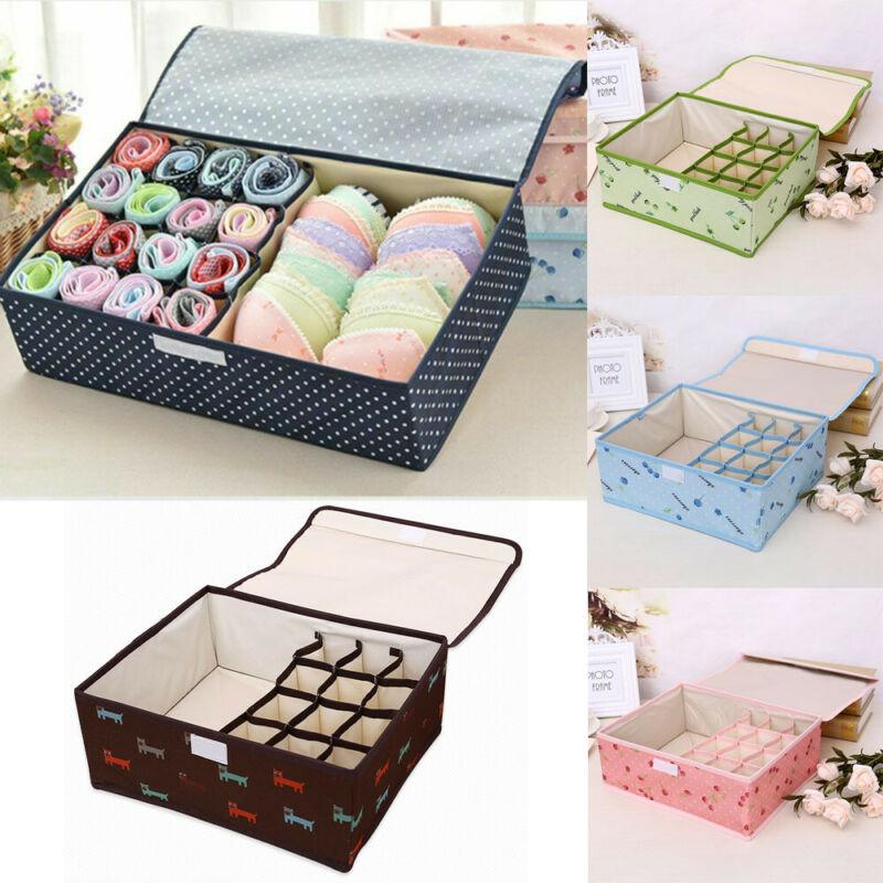 13 Grid Drawer Socks Bra Glove Closet Organizer Portable Underwear Storage Box Home Foldable Storage Bags Clothing Organizer