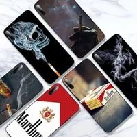 cigarette phone case for samsung a20s a30s a31 a40 a50s a51 a70 a71 a80 black soft nax fundas cover
