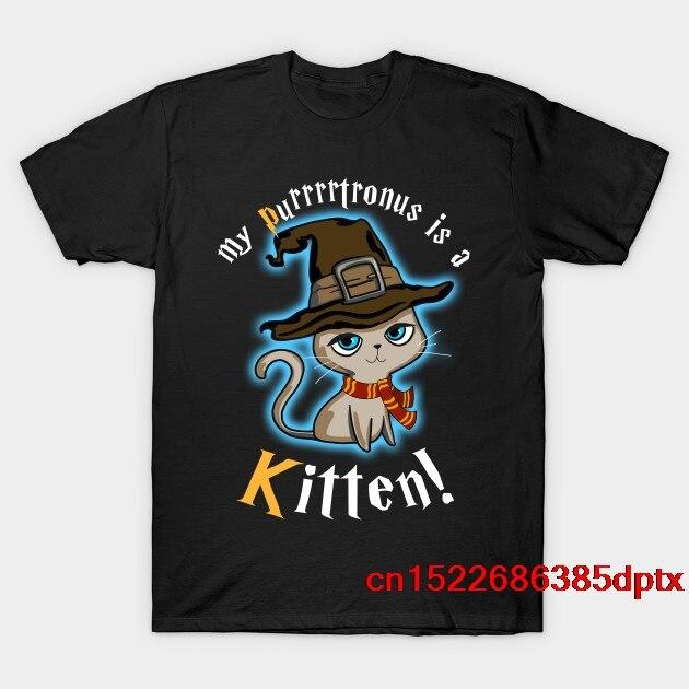 Mi Patronus es un gatito gato camiseta-Purrrtronus Lindo juego de Camiseta Hombre Camiseta tee harry ropa