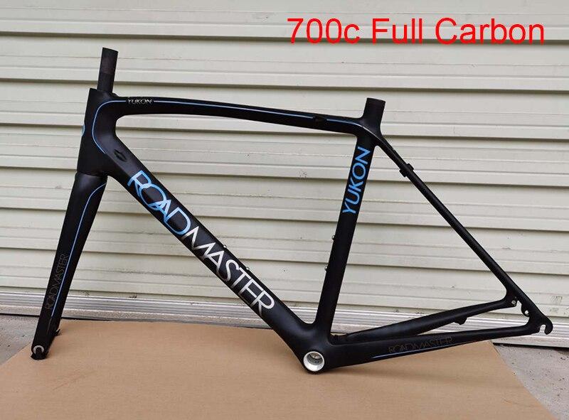 Cuadro de bicicleta de carretera de 700c de carbono de alta calidad, súper ligero, cuadro de bicicleta de carretera de 54cm C con horquilla de bicicleta de carbono 700c