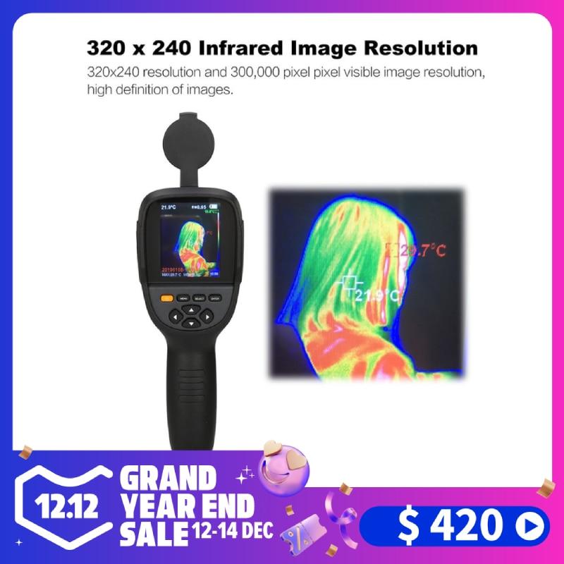 HT-19 портативная тепловизионная камера с высоким разрешением ИК 300000 пикселей 3,2 дюймов 320X240 TFT Инфракрасное изображение