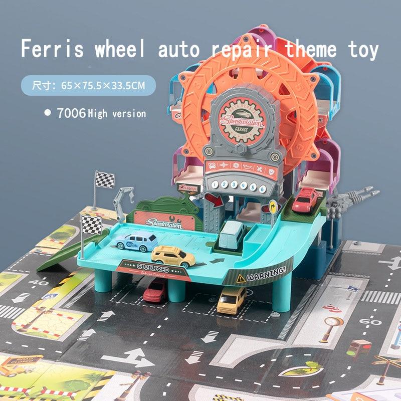 Смарт-колесо обозрения Авто Ремонт тема игрушка Детские развивающие игрушки завод по ремонту трек набор игрушек приключение моделирования...