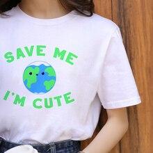 Vegan Harajuku Graphique T-shirt Femmes Ullzang Drôle Dessin Animé T-shirt 90s Mode décontracté Grunge Chemise Style Coréen top T-shirts Femme
