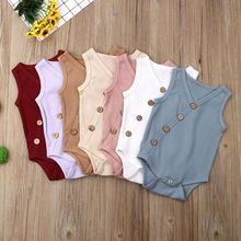 New  Kids Baby Boy Girl Clothes Romper Cotton sleeveless Bodysuit Jumpsuit Outfit 0-24M roupa infant