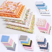 7pcs 2524cm colourful diy cotton fabric cloth sewing patchwork textile bedding sheets diy manual handmade craft material 2021
