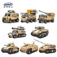 xingbao 13005 military series building kits building blocks the mirage tank model kit for kids blocks toys