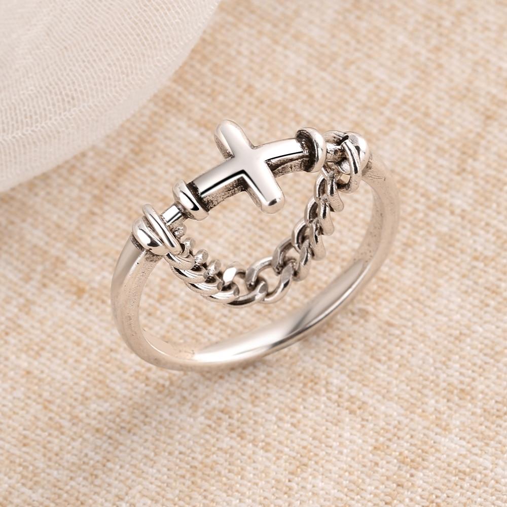 Серебряное-Винтажное-кольцо-goldria-в-стиле-панк-с-крестом-из-тайского-серебра-серебряная-цепочка-Открытое-кольцо-на-палец-ювелирные-изделия