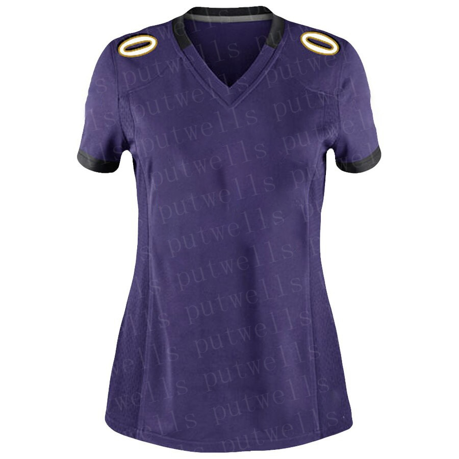 Женская футболка для американского футбола «Стич Балтимор», Джерси INGRAM II, Эндрюс, Хамфри, коричневый Джексон, спортивные футболки под заказ ...
