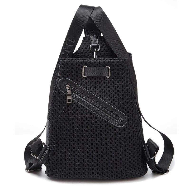 2021 حقائب جديدة متعددة الوظائف حمل حقيبة السفر المنظم الفاخرة السيدات على ظهره موضة عالية الجودة شبكة حقيبة كتف