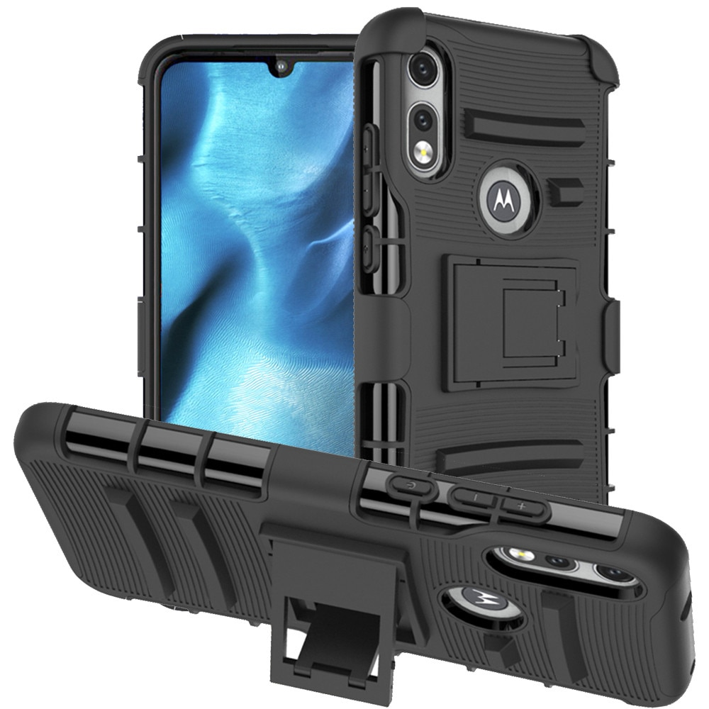 Funda de Clip de cinturón para Motorola Moto E (2020) funda de teléfono, funda con soporte giratorio a prueba de golpes, funda protectora de parachoques