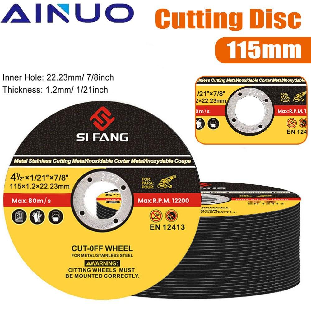 Металлические режущие диски из нержавеющей стали, 2-50 шт., 115 мм, отрезные диски, откидные шлифовальные диски, шлифовальные диски, угловая шли...