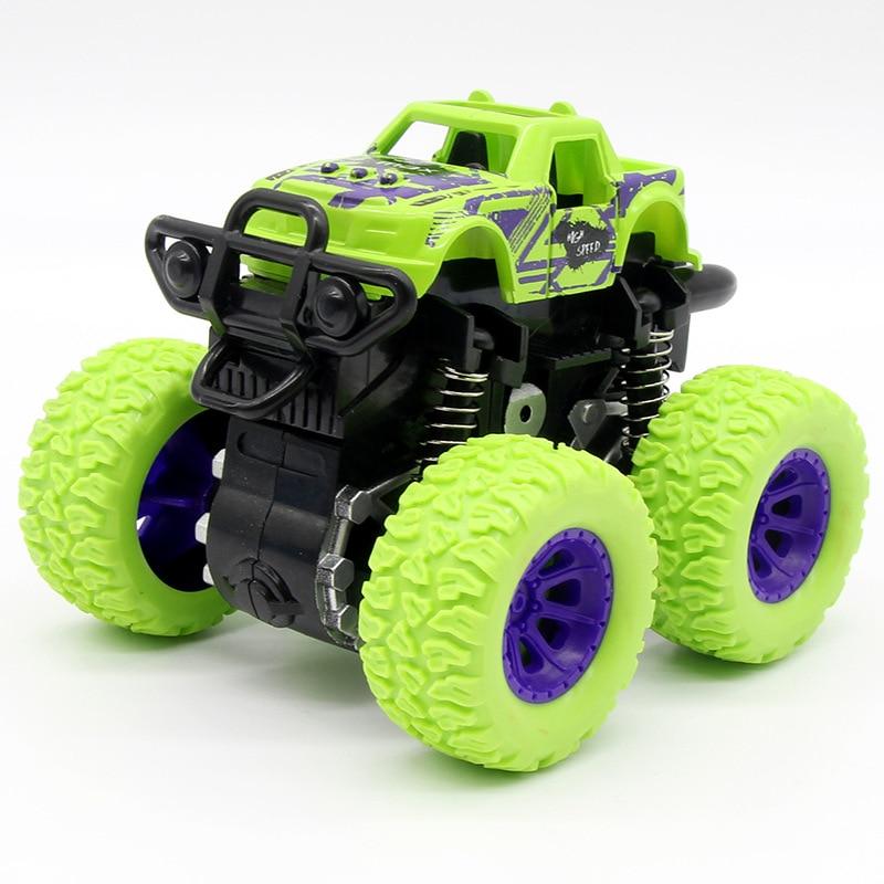 Детей с полосатым топом и зеленой Машинки Игрушки RC Monster Truck инерции внедорожник трения Мощность машин для маленьких мальчиков супермашинки вспыш и чудо-грузовик Детский подарок игрушки