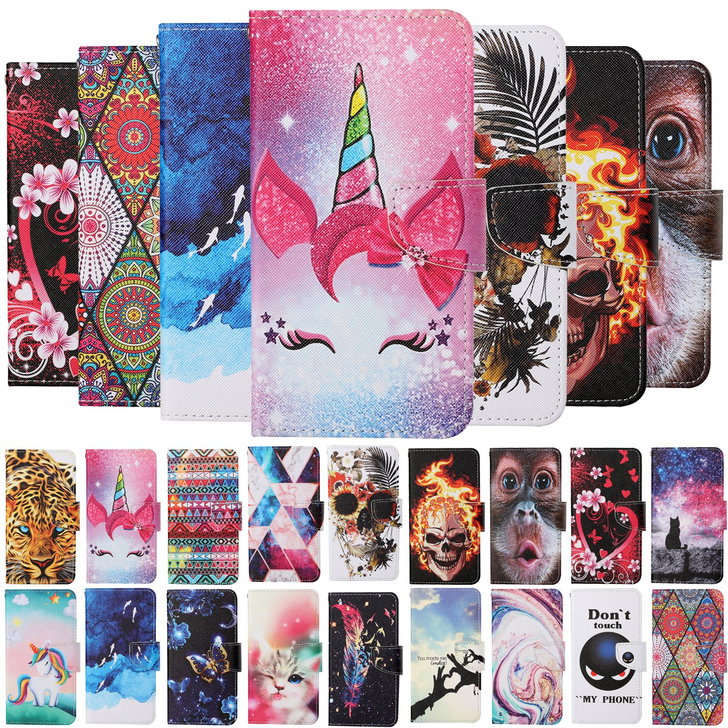mobile phone case For Samsung Galaxy A20E pu Leather case For Galaxy A20E cartoon Magnetic Wallet Cove enlarge